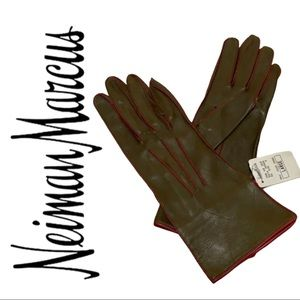 Neiman Marcus Leather Gloves L